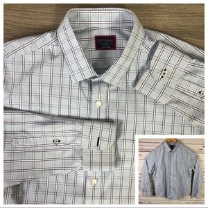 UNTUCKit wrinkle free button down shirt plaid